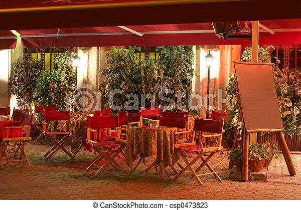 restaurang, natt - csp0473823