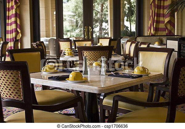 restaurang, restaurang, inställning, bordläggar - csp1706636
