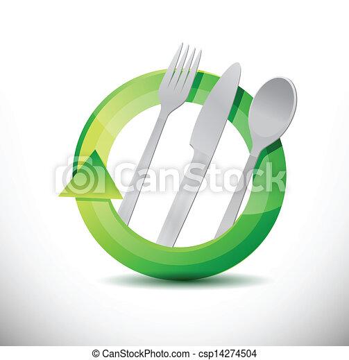 restaurant 360 design concept illustration design - csp14274504