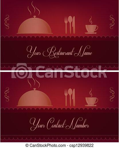 Restaurant business card restaurant business card csp12939822 reheart Gallery