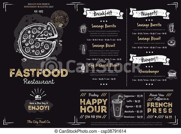 Restaurant Cafe Fast Food Menu Template Restaurant Fast Food Cafe