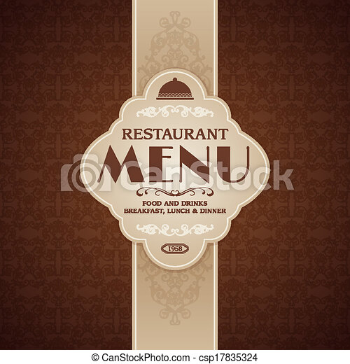 Restaurant cafe menu brochure template - csp17835324