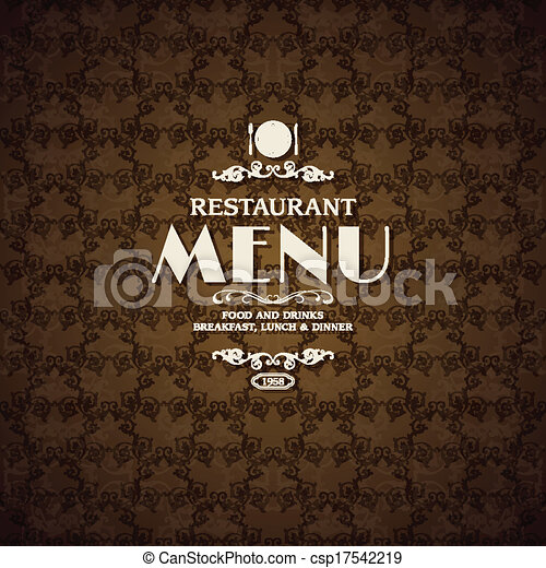 restaurant cafe menu cover template with cooking elements vector