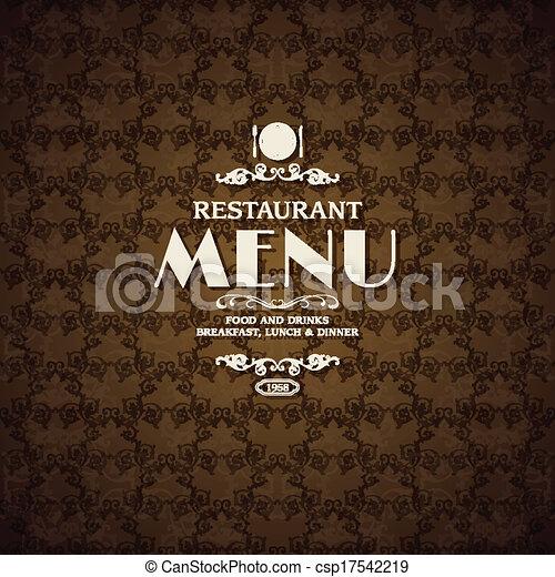 Restaurant cafe menu cover template - csp17542219