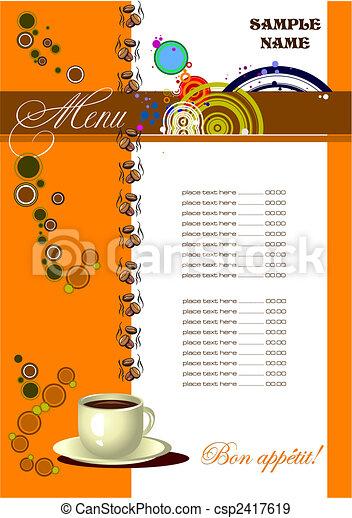 Restaurant (cafe) menu - csp2417619
