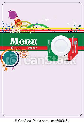 Restaurant (cafe) menu - csp6603454