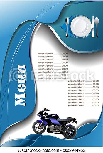 Restaurant (cafe) menu - csp2944953