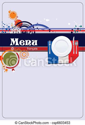 Restaurant (cafe) menu - csp6603453