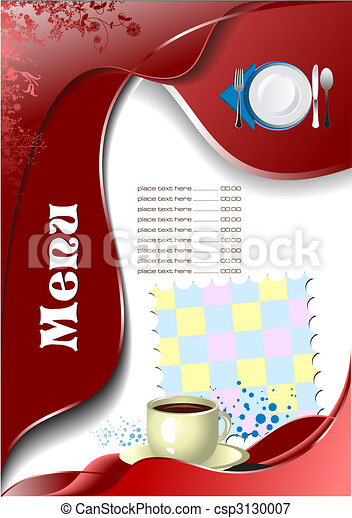Restaurant (cafe) menu - csp3130007
