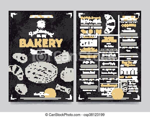 Restaurant cafe menu template design, vector - csp38123199