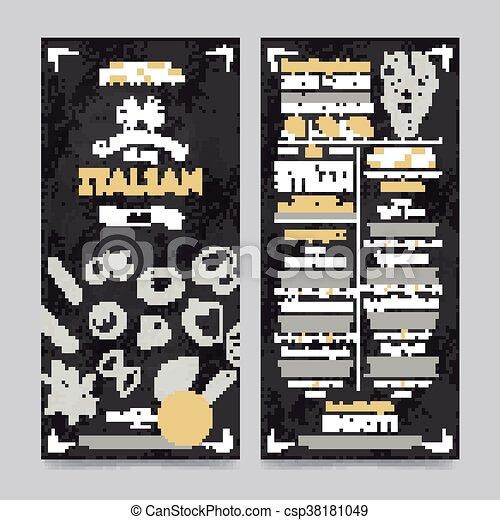 Restaurant cafe menu template design, vector - csp38181049