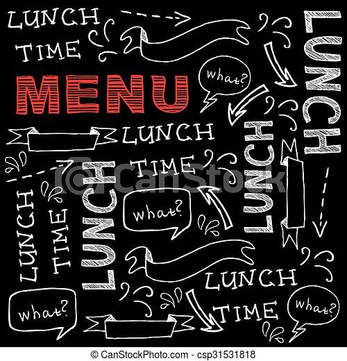 Restaurant cafe menu, template design. Vector illustration. - csp31531818