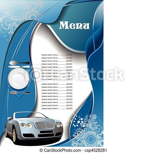 Restaurant (cafe) menu - csp4528281