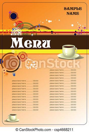 Restaurant (cafe) menu - csp4668211
