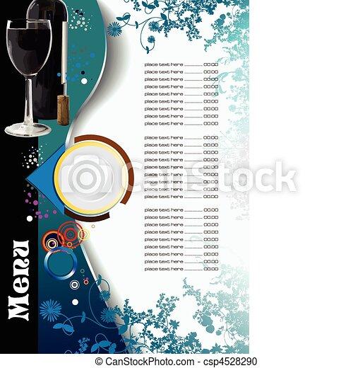Restaurant (cafe) menu. Vector - csp4528290