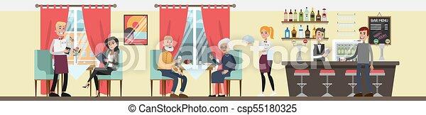 Gente en el restaurante. - csp55180325