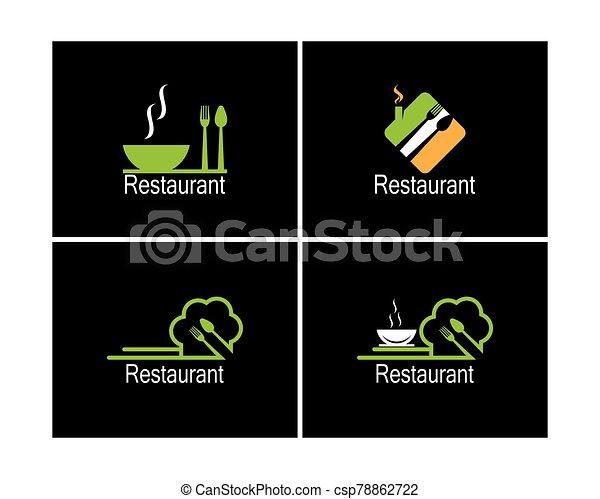 Restaurant icon logo vector illustration - csp78862722