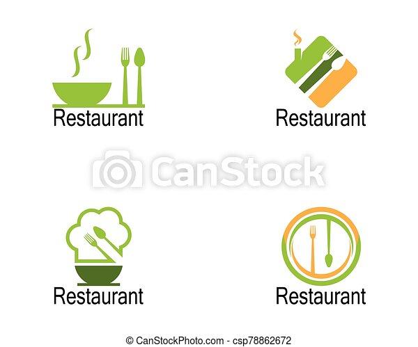 Restaurant icon logo vector illustration - csp78862672