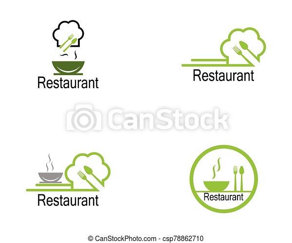 Restaurant icon logo vector illustration - csp78862710