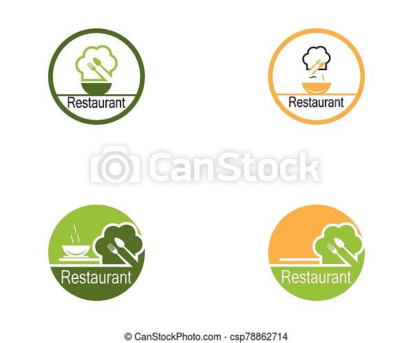 Restaurant icon logo vector illustration - csp78862714