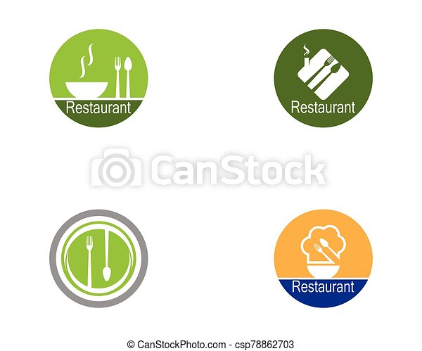 Restaurant icon logo vector illustration - csp78862703