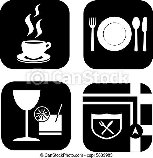 Restaurant Icons  - csp15833985