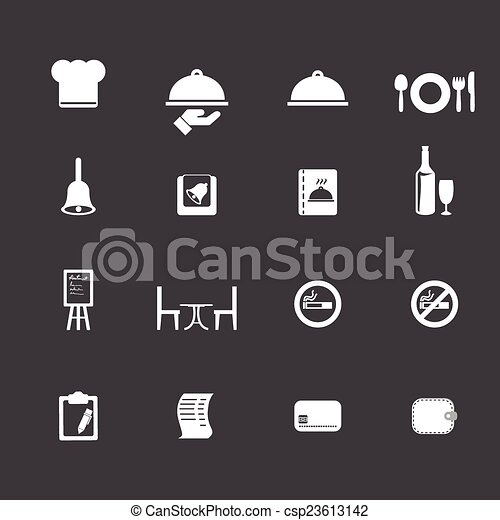 Restaurant icons - csp23613142