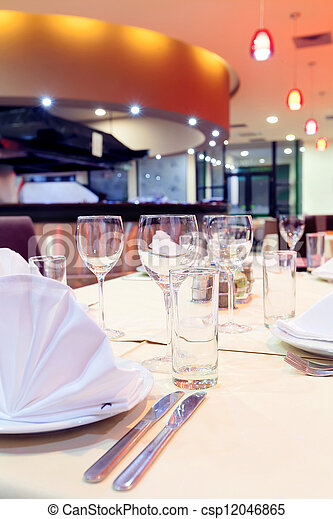 Restaurant interior  - csp12046865