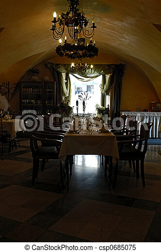 Restaurant interior - csp0685075