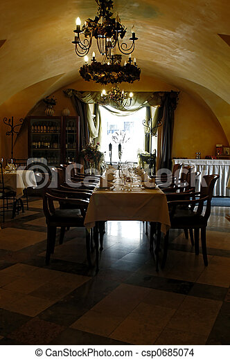 Restaurant interior - csp0685074