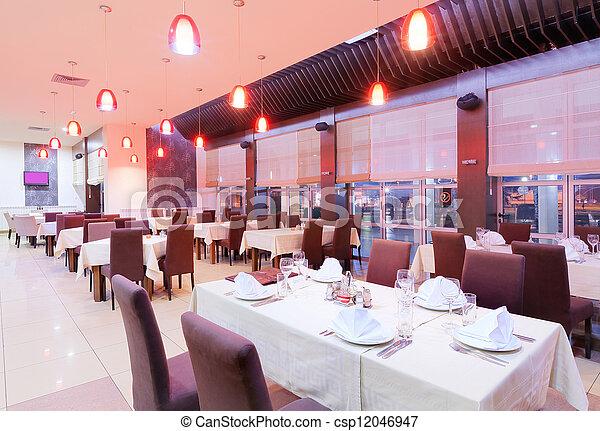 Restaurant interior  - csp12046947