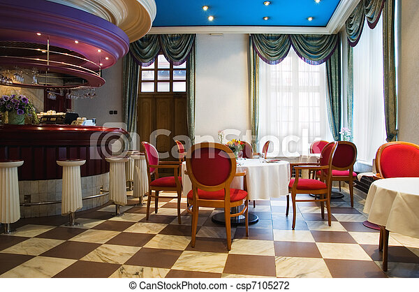 Restaurant interior - csp7105272