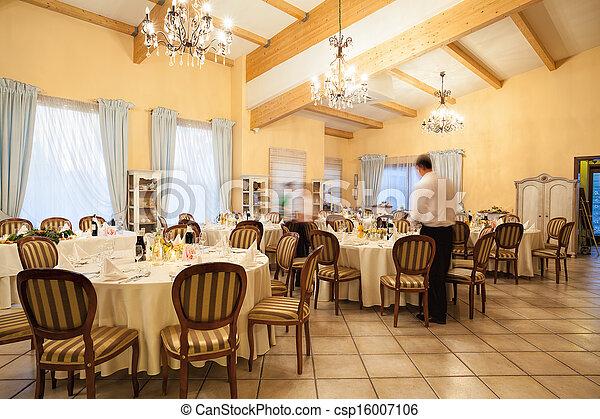 Restaurant interior - csp16007106