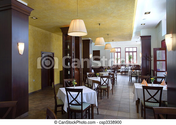 Restaurant interior - csp3338900