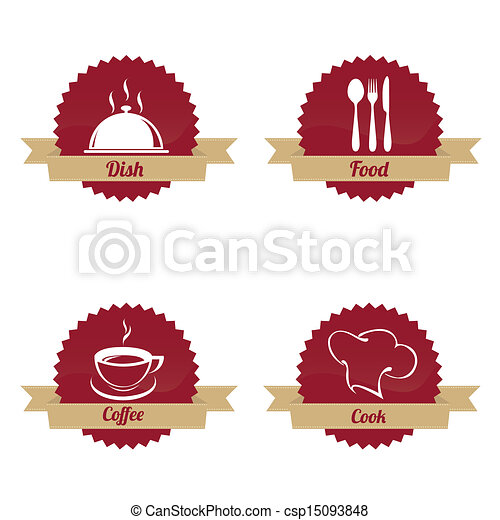 restaurant labels - csp15093848