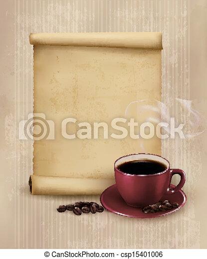 restaurant., menu, café, ilustração, vetorial, desenho, retro, template. - csp15401006