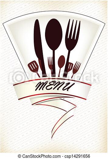 Restaurant menu design - csp14291656