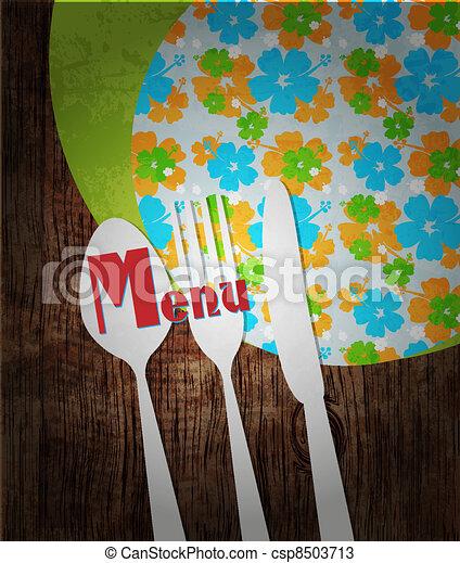 Restaurant menu design - csp8503713