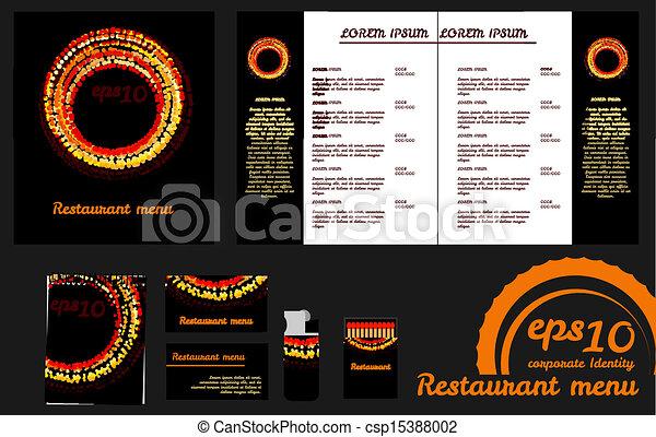 Restaurant Menu Design Template An Mockup - Menu mockup template