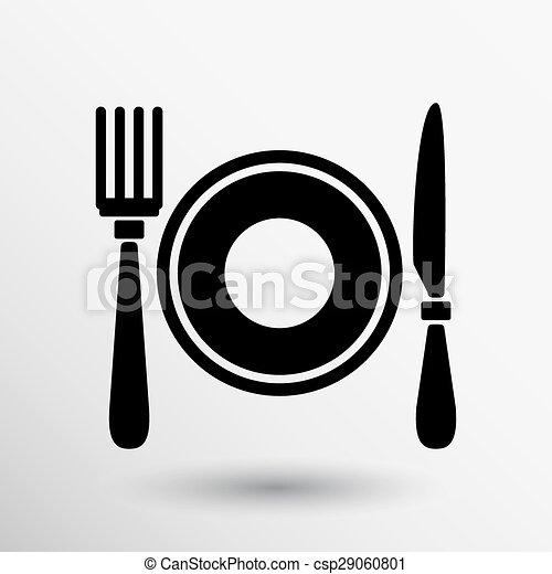 Restaurant menu symbol such logo food cafe - csp29060801