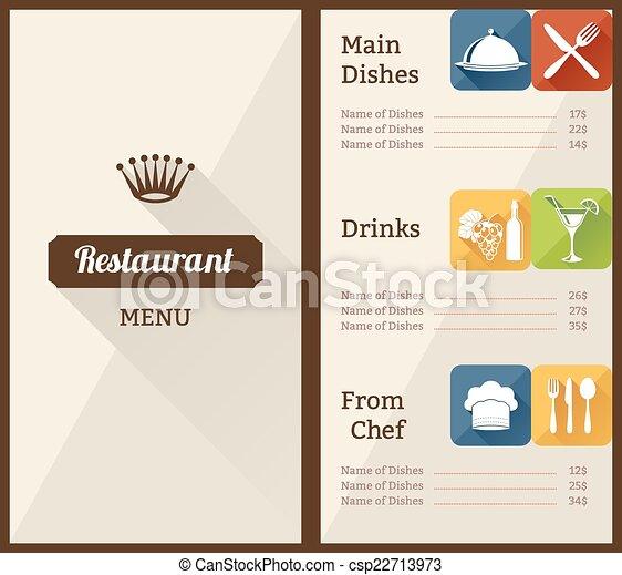 restaurant menu template restaurant menu list paper brochure with
