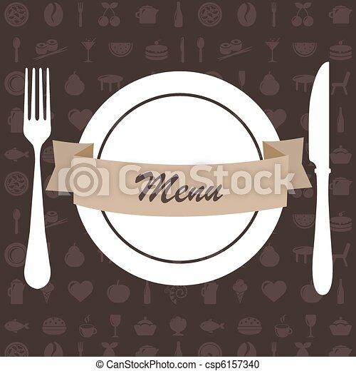 Restaurant Menu - csp6157340