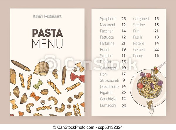 restaurant or cafe dining menu template with plate of cooked