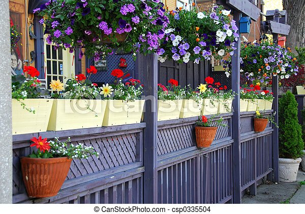 Restaurant patio - csp0335504