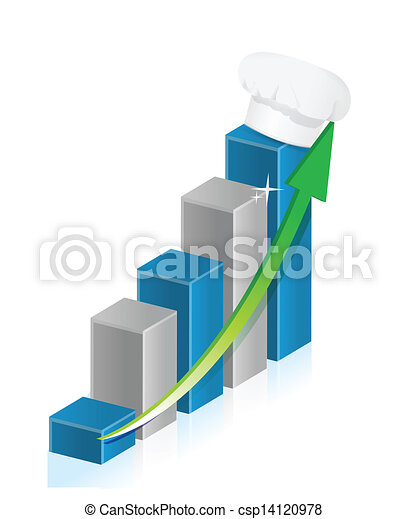 restaurant profits on a business graph - csp14120978