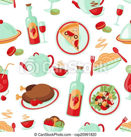Restaurant seamless pattern - csp20991820