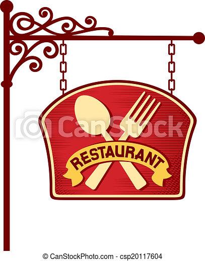 restaurant sign - csp20117604
