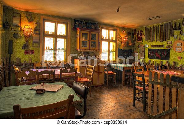 Restaurant Retro Vintage Restaurant Interior Tradition And Souvenirs