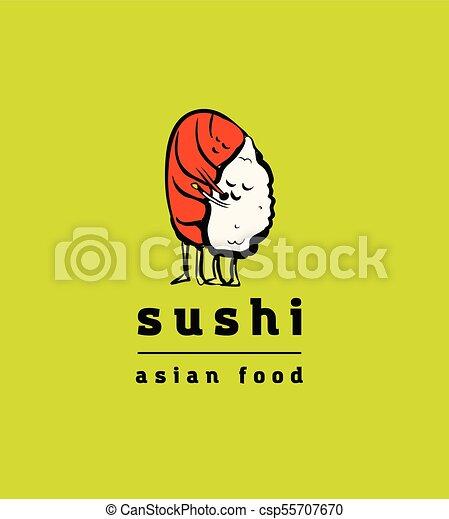 restaurant, sushi, ensemble, icônes - csp55707670
