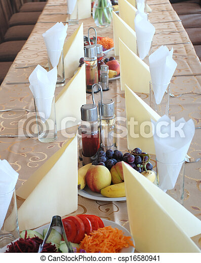 Restaurant table - csp16580941